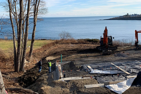 Maine Oceanfront Sitework