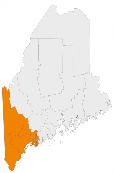 Maine Counties Service Map
